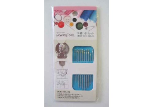 Hand sewing needle for thick cloth 10p : PB