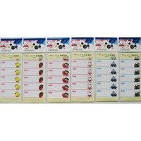 Name label with adhesive 6p : PB