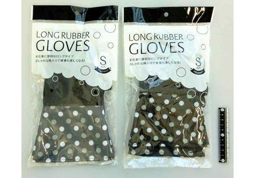 Long rubber gloves bk S : PB