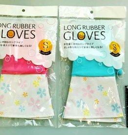 Pika Pika Japan Long rubber gloves color S : PB