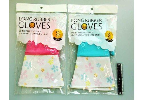 Long rubber gloves color S : PB