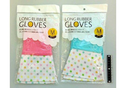 Long rubber gloves color M : PB