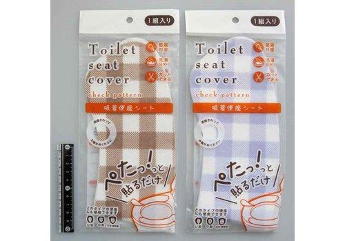 Print toilet seat sheet check pattern : PB
