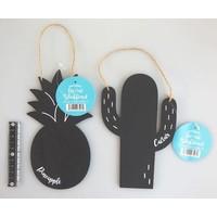FL die-cut black board ornament