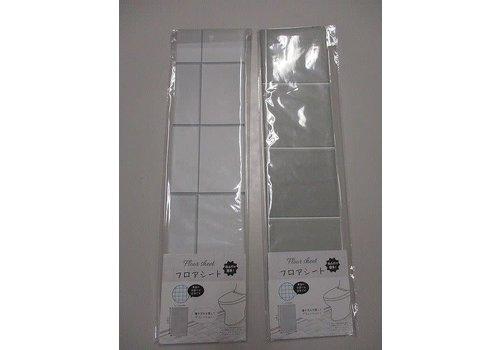 Tile like toilet floor sheet