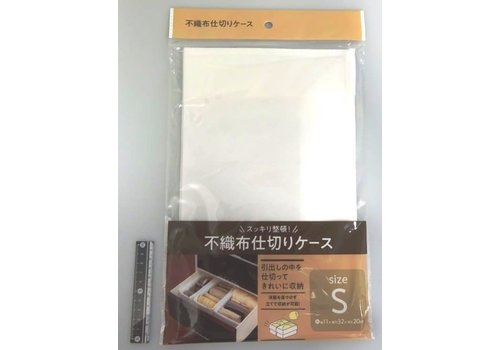 Non-woven fabric organizer for drawer white S size