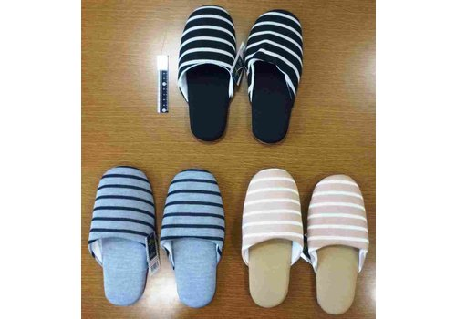 Fit slippers border assort