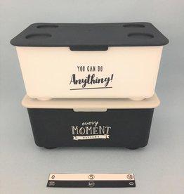 Pika Pika Japan Stacking box with lid mono-tone