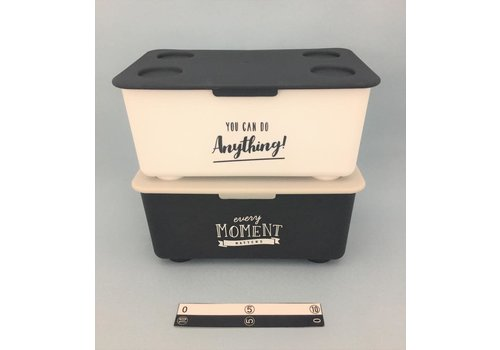 Stacking box with lid mono-tone