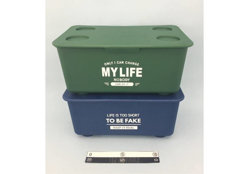 Stacking box with lid color