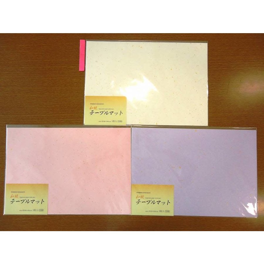 Japanese paper table mat 5p-1