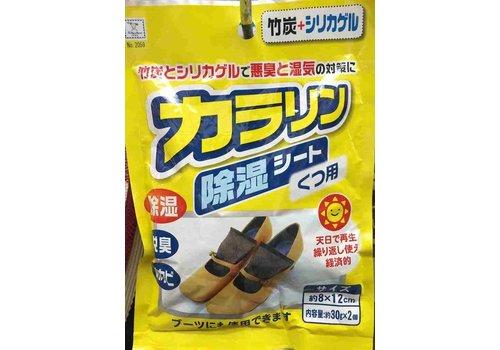 Dehumidifying sheet for shoes