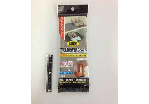 Japanese apricot charcoal air freshener sheet for shoe box