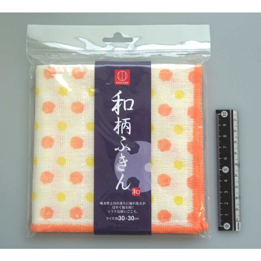 Japanese traditional pattern duster polka dot-1