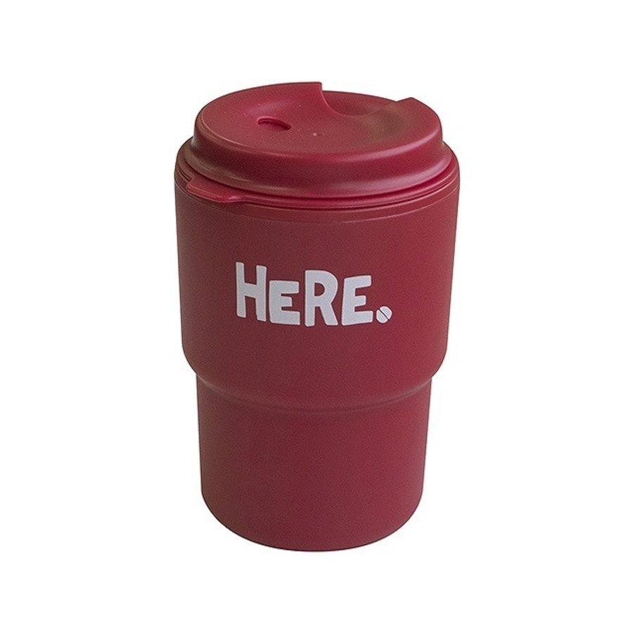 Double tumbler HERE red-1