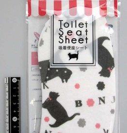 Pika Pika Japan Animal sticky toilet seat sheet black cat