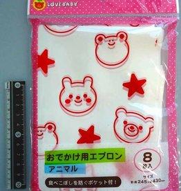Pika Pika Japan LB apron animal 10p