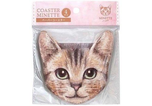Paper coaster Minette 4p