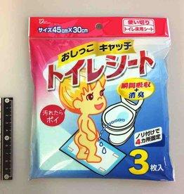 Pika Pika Japan Toilet sheet 45x30cm 3p