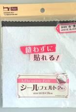 Pika Pika Japan Adhesive seal felt 2p white/black