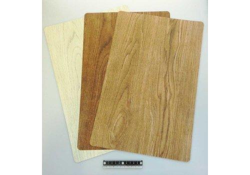PVC wooden motif mat