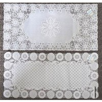 Drawnwork like PVC mat square 40x83cm