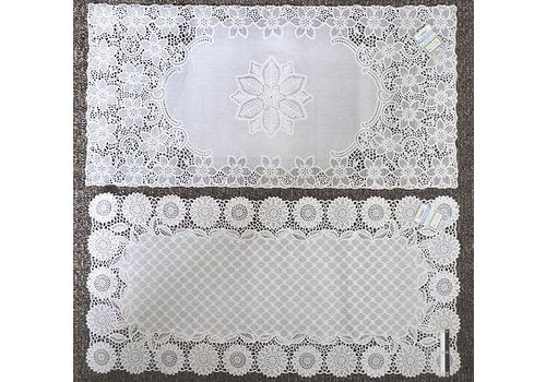Drawnwork like PVC mat square 40x83cm