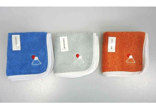 Towel handkerchief Mt. Fuji needle work