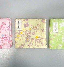 Pika Pika Japan Gauze towel handkerchief flower pattern