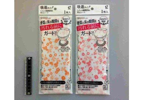 Toilet space sheet flower pattern