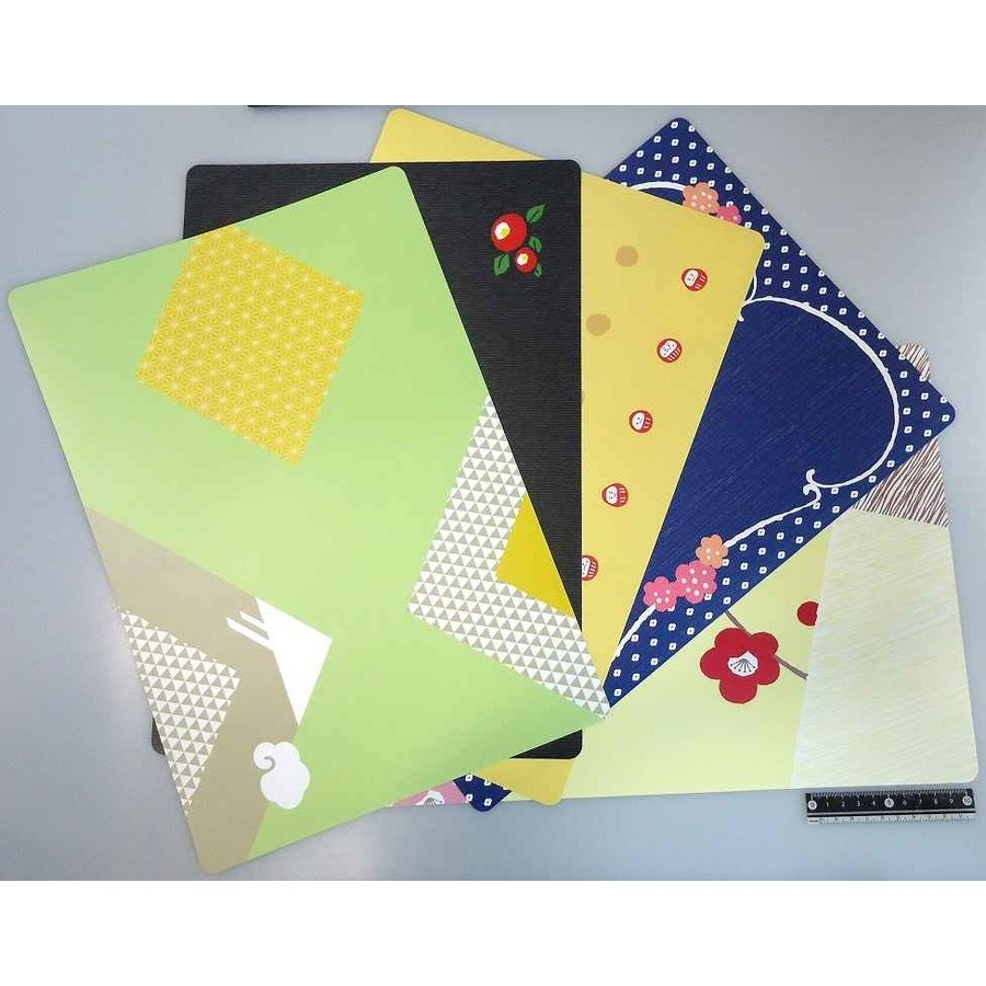 Non-slip place mat Japanese traditional pattern-1