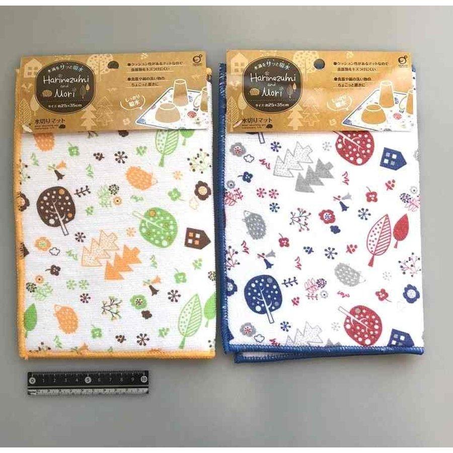 MF drain mat hedgehog & forest pattern-1