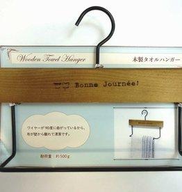 Pika Pika Japan Wooden towel hanger