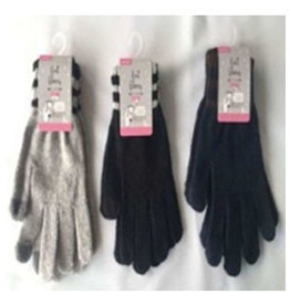 Pika Pika Japan Ladies knit gloves border smartphone available : PB