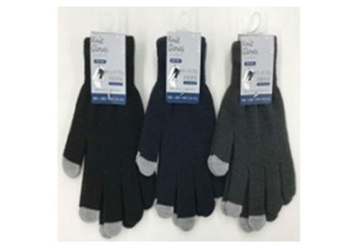 Stretch gloves plain touch panel compatible