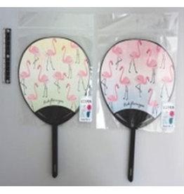 Pika Pika Japan Mini fan 2p cactus, flamingo