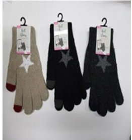 Pika Pika Japan Ladies knit gloves star smartphone available