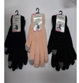 Pika Pika Japan Ladies fluffy gloves plain smartphone available