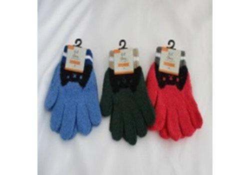 Kids knit gloves animal pattern