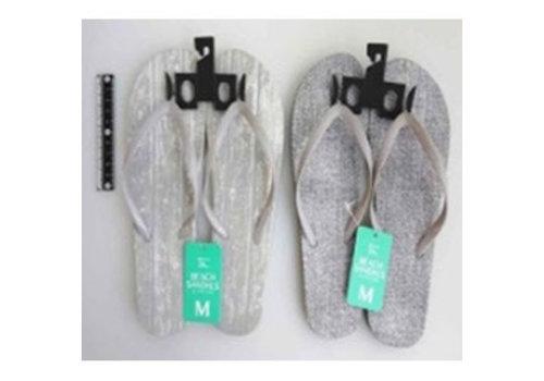 Beach sandals M size texture wh
