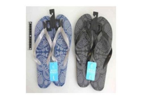 Beach sandals L size paisley
