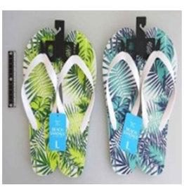 Pika Pika Japan Beach sandals L size botanical