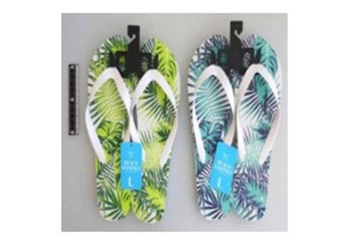 Beach sandals L size botanical