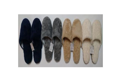 Fluffy boa slippers