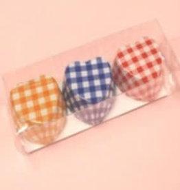 Pika Pika Japan Chocolate cups heart shape check pattern 9p