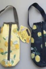 Pika Pika Japan Aluminum inner PET bottle cover with stripe lemon pattern