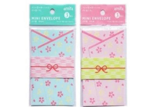 Small money envelope 3p Kimono motif