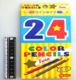 Pika Pika Japan 24 colors twin colors pencil 12p