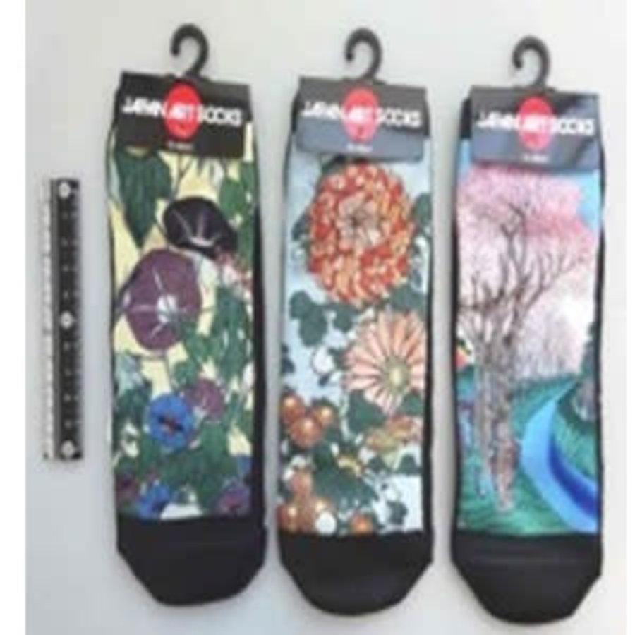 Japanese pattern ladies short socks C-1