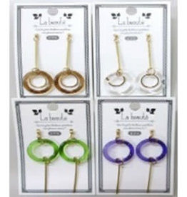 Pika Pika Japan Ring beads pierced earrings with stick